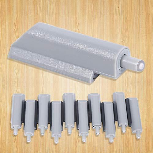 Sistema de Amortiguador de Puerta Abierta, 10 Piezas de ABS, Caja, Puerta, Armario, cajón, bisagra, Sistema de Empuje para Abrir, Amortiguador, Amortiguador, Punta de plástico