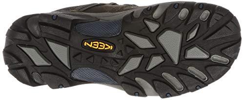 KEEN Targhee II WP, Chaussures de Randonnée Basses Homme, Marron (Gargoyle/Midnight Navy), 44.5 EU