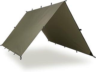 Aqua Quest Defender Tarp - 100% Waterproof Heavy Duty Nylon Bushcraft Survival Shelter - 10 x 10 ft Olive Drab