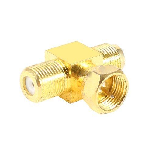 Agua y madera F Tipo 1macho a 2F female–adaptadores para antena Cables