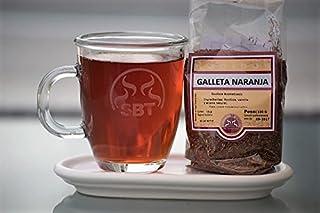 SABOREATE Y CAFE THE FLAVOUR SHOP Té Rooibos Galleta Naranja En Hoja Hebra A Granel Infusión Natural Isotónica Adelgazante 100 gr