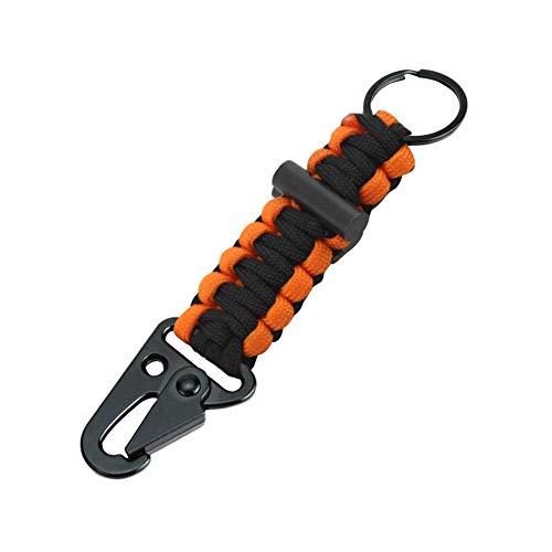 JJrainning Schlüsselanhänger Einfache Outdoor Lanyard Karabiner Schlüsselanhänger Überleben Schlüsselanhänger Schlüsselbund Test Abschleppseil Anhänger Stricken Auto Schlüsselbund Hängen