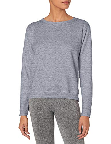 Hanes Women's V-Notch Pullover Fleece Sweatshirt, Light Steel, L