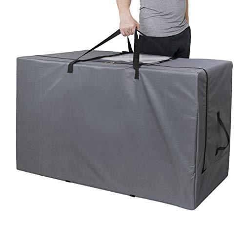 Cuddly Nest Faltmatratzen-Aufbewahrungstasche, strapazierfähig, Tragetasche für dreifach gefaltete Gästebett-Matratzen (passend für bis zu 15,2 cm Queen-Matratze, grau)