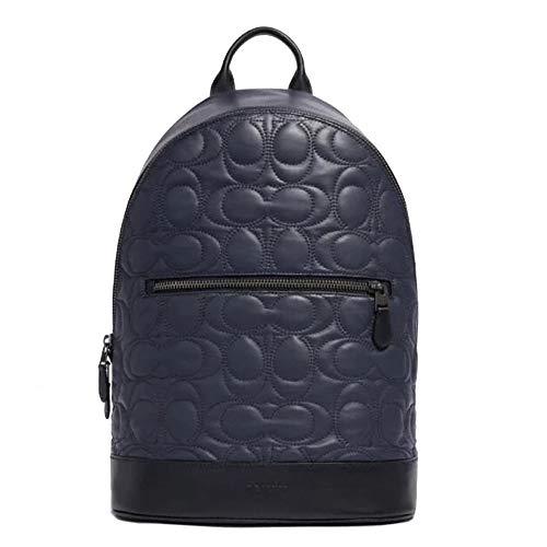 COACH West Slim Backpack with Signature Quilting, F79962, Midnight