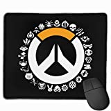 WXDGLL Fully Printed Mouse pad 25cmx30cm Overwatch Gaming Mouse pad Office Mouse pad Non-Slip Rubber Durable Stitches, Designed for Men, Women and Children Gaming Office laptops