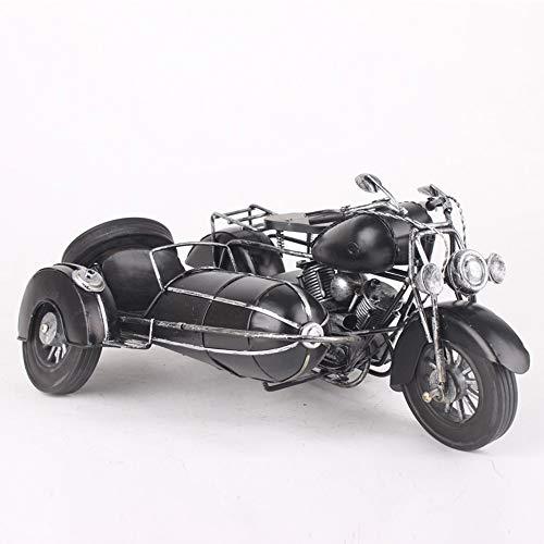 DLY Driewielige motorfiets zijspan Model Iron Auto Model Metal Sub-Kua Retro Nostalgia Gift Items Ambachten Home Decoraties Model 36 * 22 * 17cm Pretty