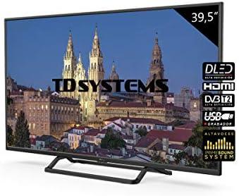 Television 39,5 Pulgadas, 3X HDMI, VGA, USB, 1100 PCI Hz, Grabador Reproductor, DVB-T2/C/S2 Modo Hotel - Televisores TD Systems K40DLX10F - TDsystems: Amazon.es: Electrónica