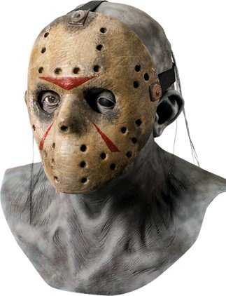Freddy vs. Jason Latex Maske Deluxe mit Hockeymaske