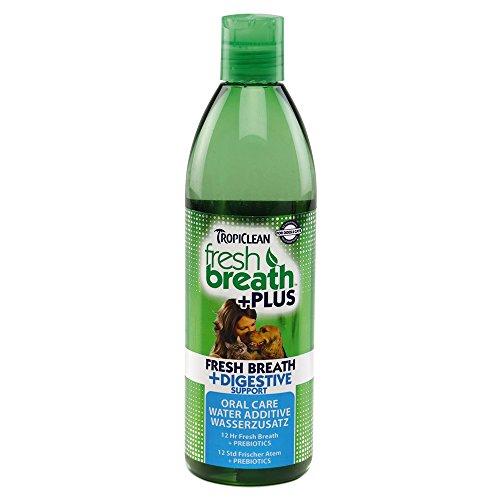 Tropiclean 792145 Mundpflege Wasserzusatz Plus Verdauung, 473 ml