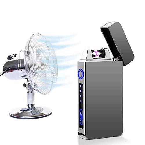 Induktions-Feuerzeug Doppelter Lichtbogen Plasma USB Winddicht Ohne Flamme Elektrisch Zigarettenanzünder
