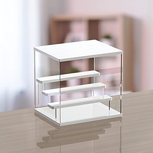 Nynelly - Organizador de juguetes para muñecas, 4 niveles, color blanco