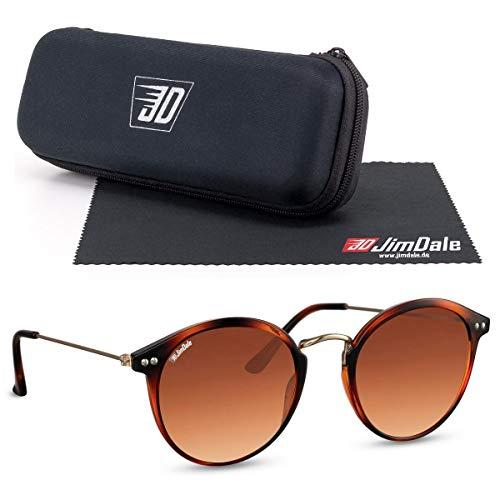 JD Jim Dale Ronda Havana - Gafas de sol para mujer (plástico tintado, UV400), color marrón