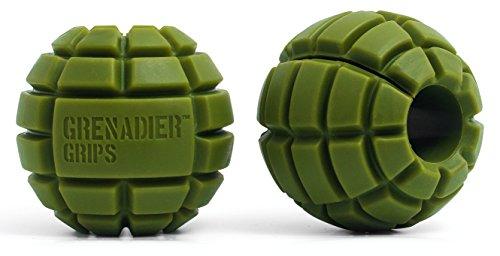 Einzigartige Grenadier Hantelgriffe dicke Grips Kurz-/Langhantel-Stangen Großes Muskelwachstum Explosive Power Verbesserter Halt Stärke Arm-Muskelaufbau Crossfit - Verbesserte Greif-/Kletterleistung