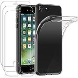 iVoler Custodia Cover per iPhone SE 2020 / iPhone SE 2 / iPhone 8 / iPhone 7 / 6S / 6 con 3 Pezzi Pellicola...