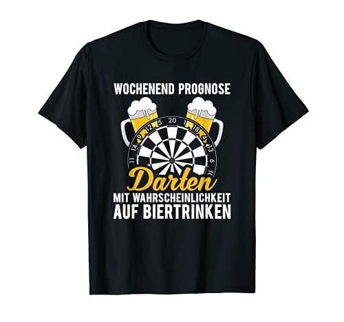 Wochenend Prognose. Bier Liebe, Dart König, Darts Spieler T-Shirt