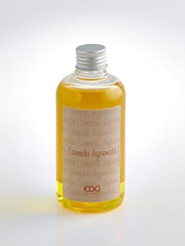 Ricarica per diffusori a bastoncino profuma ambienti EDG, 250 ml, fragranza cannella agrumata