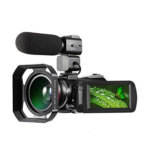 BSLBBZY 4K Cámara de vídeo Full HD WiFi Vlogging 30X Zoom Digital IR Visión Nocturna Cámara de vídeo Filmadora (color: paquete 2)