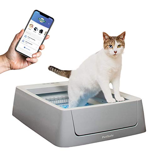 PetSafe ScoopFree Smart Self Cleaning Cat Litter Box - Smart Phone App Connected Automatic System