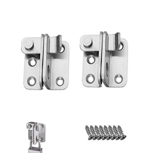 2 Stück Edelstahl Riegel LMYTech Riegelschloss Schrank/Schieberiegel Klein/Riegel Klein/Anwendbar auf Verschiedene Türen-Silber