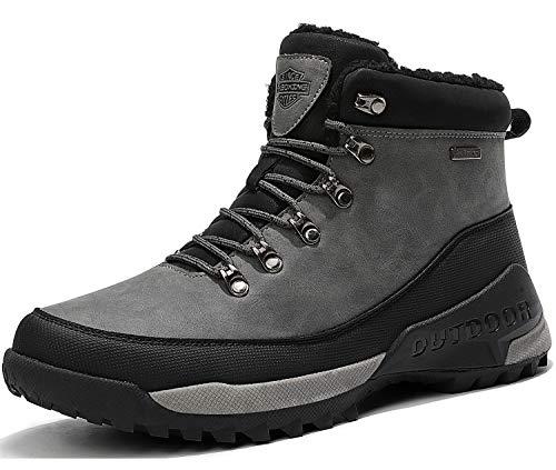 AX BOXING Heren Laarzen Sneeuwschoenen Warm Gevoerde Winter Outdoor Laarzen Wandelschoenen Maat 40-46