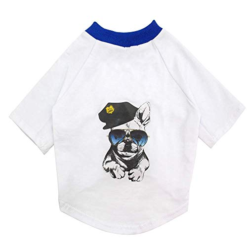 GH-YS Camiseta de Verano para Perros Chaleco de algodón Suave Ropa de Perro Camisa Ropa de Cachorro Transpirable Ropa de Mascota Disfraces para Perros Pitbull Pug