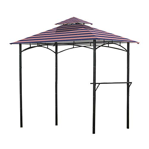 Garden Winds Replacement Canopy for L-GZ238PST-11 Grill Gazebo - Standard 350 - Americana