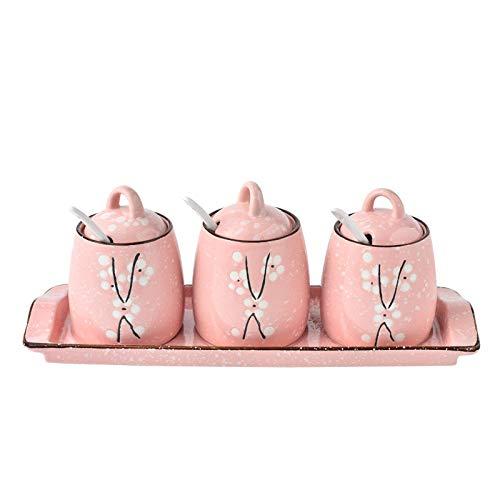 Ceramica Barattoli Portaspezie Scatola Di Condimento Vassoio In Ceramica Vaso Da Cucina Per Uso Domestico Olio Da Cucina Vaso Con Combinazione Di Cond