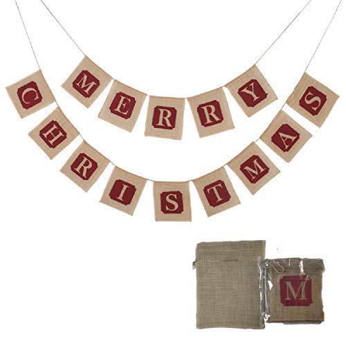 Bogeer Large Merry Christmas Jut...
