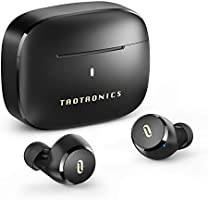 TaoTronics 无线耳机 支持apt-X/Type-C充电 / 耳机单体9小时播放 / 合计36小时播放 / 佩戴舒适 Bluetooth5.0 全无线 耳机 自动配对 SoundLiberty 97 (黑色)
