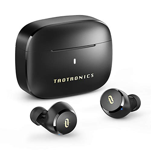 TaoTronics Wireless Earbuds, Apt-X Compatible, Type-C Charging, 9 Hours of Playtime / Total 36 Hours Playtime / Comfortable Wearing, IPX8 Waterproof, Bluetooth 5.0 Full Wireless Earphones, Automatic Pairing, SoundLiberty 97 (Black)