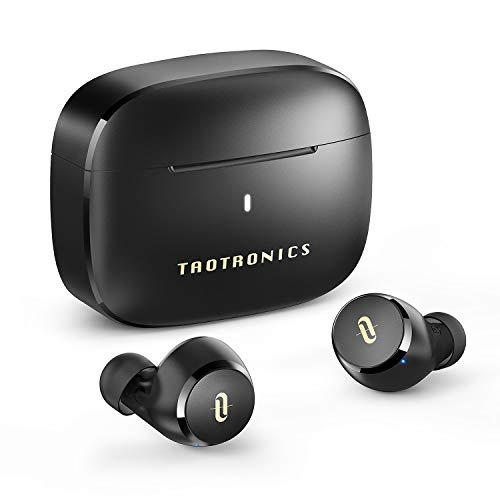 TaoTronics ワイヤレスイヤホン apt-X対応/Type-C充電対応 / イヤホン単体9時間再生 / 合計36時間再生 / 快適な装着感 / IPX8防水 Bluetooth5.0 フルワイヤレス イヤホン 自動ペアリング SoundLiberty 97 (ブラック)