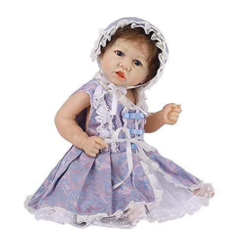 LXTIN Renacido Las muñecas del bebé de Las Muchachas Hechas a Mano de la Vida Real Bebés Reborn Silicona Suave Vinilo Reborns muñeca Las Muchachas del niño del bebé de Juguete 58 cm