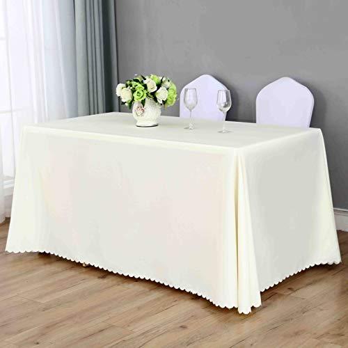 LIUJIU Home Nappe de Table carrée résistante à la saleté et à l'eau Effet Lotus Facile d'entretien Disponible en différentes Tailles e,90x140cm