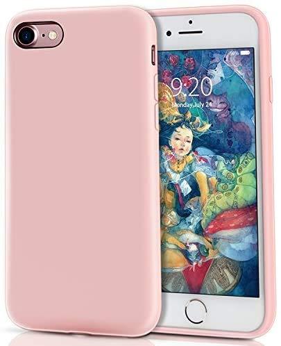 MILPROX iPhone SE Hülle, iPhone 8 Silikon Hülle, iPhone 7 Silikon Hülle, Silikon-Handyschale, Nette flüssige Silikons, stoßsicheres Futter aus Mikrofaser, geeignet für iPhone 7/8/SE-Pink