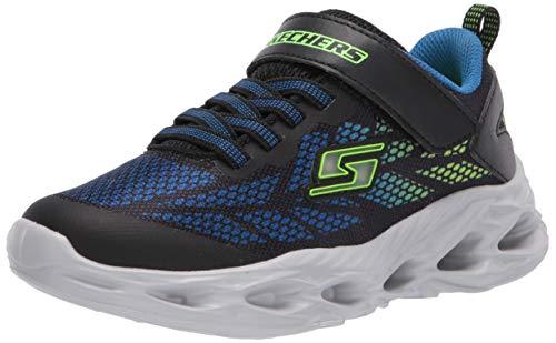 Skechers Kids Boys' Vortex-Flash Sneaker, Black/Blue/Lime, 10 Medium US Toddler