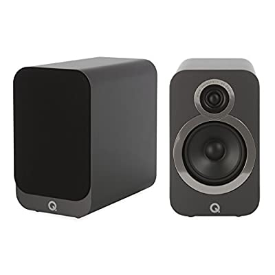 Q Acoustics 3020i Bookshelf Speakers (Pair) (Graphite Grey) by Q Acoustics