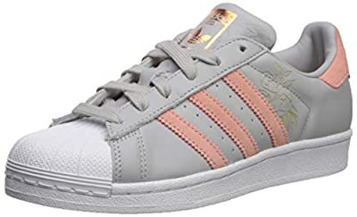 adidas Originals Women's Superstar Shoes, White/Black/White, (8.5 M US) in FCR