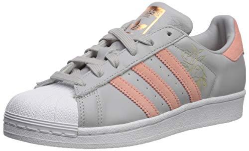 adidas Originals Superstar, Zapatillas para Mujer, Grigio Trace Rosa Bianco, 39 EU