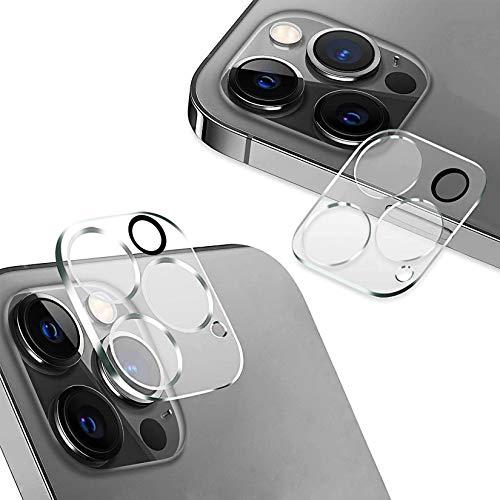 【2枚セット】For iPhone 12 Pro Max 用 カメラフィルム強化ガラス 全面保護レンズフィルム 気泡なし 自動吸着 指紋防止 優れた密着性 耐衝撃 極薄型 カメラ保護 強化ガラスフィルム For アイフォン12 Pro Max 用 液晶保護カメラフィルム(6.7インチ)