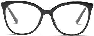 BOZEVON Women Glasses - Lightweight Oversize Frame Classic Vintage Clear Lenses Non Prescription Retro Black Glasses Ladies Fashion Accessories Eyewear