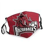 Arkansas Razorbacks Fashion Cosplay 3d Printed Outdoor Mask Protection Unisex