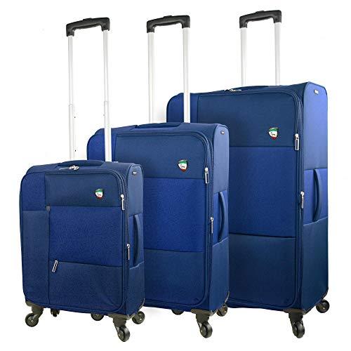 Mia Toro Italy Tordino Softside Spinner Gepäck, 3-teiliges Set, Blau, blau (Blau) - M1149-03PC-BLUNN