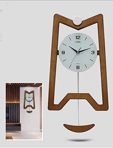 Horloge silencieuse Vintage Creative Horloge Salon Horloge Murale Design Sense Quand Le Pendule Horloge Murale Décoration Horloge Murale Simple (Couleur : B)