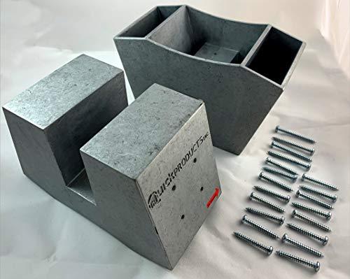 "QuickProduct Heavy Duty Aluminum Alloy Sawhorse Brackets 2"" x 4"" - 1 Pair"