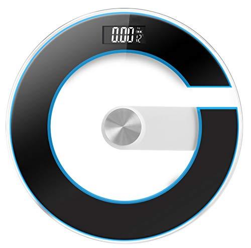 YUEDAI Elektronische Waagen Elektronische Waagen im großen Maßstab Runde Personenwaagen für den Haushalt Haushaltswaagen (Color : Black)
