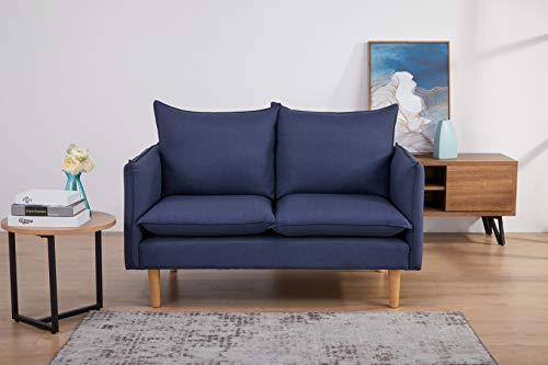 Amazon Marke - Movian Keitele - 2-Sitzer-Sofa, 130 x 82 x 84, Blau