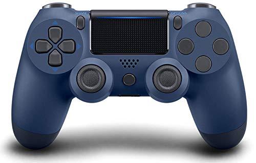 Mando Inalámbrico para PS4, Mando para PS4/Pro/Slim/PC, Controlador inalámbrico, Mando Inalámbrico Gamepad Doble Vibración Seis Ejes Mando Game/Turbo/Puerto de Audio(Azul Marino)