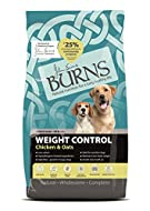 Burns Pet Nutrition Hypoallergenic Complete Dry Dog Food Adult and Senior Dog Weight Control Chicken...