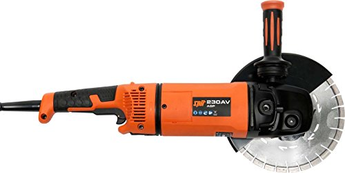 Spit AGP 230AV - Amoladora angular (6500 RPM, Negro, Naranja, Corriente alterna, 2400 W, 23 cm, 6,7 kg)